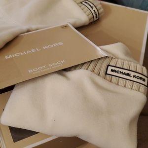 Michael Kors Ribbed Fleece boot socks